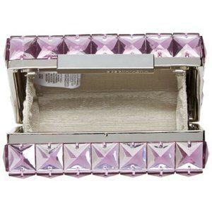 BCBGMaxAzria Bags - BCBG Lulu Square Box Crystal Stone Clutch Purse